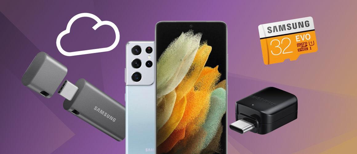 Heeft de Samsung Galaxy S21 een microSD slot voor geheugenkaarten?