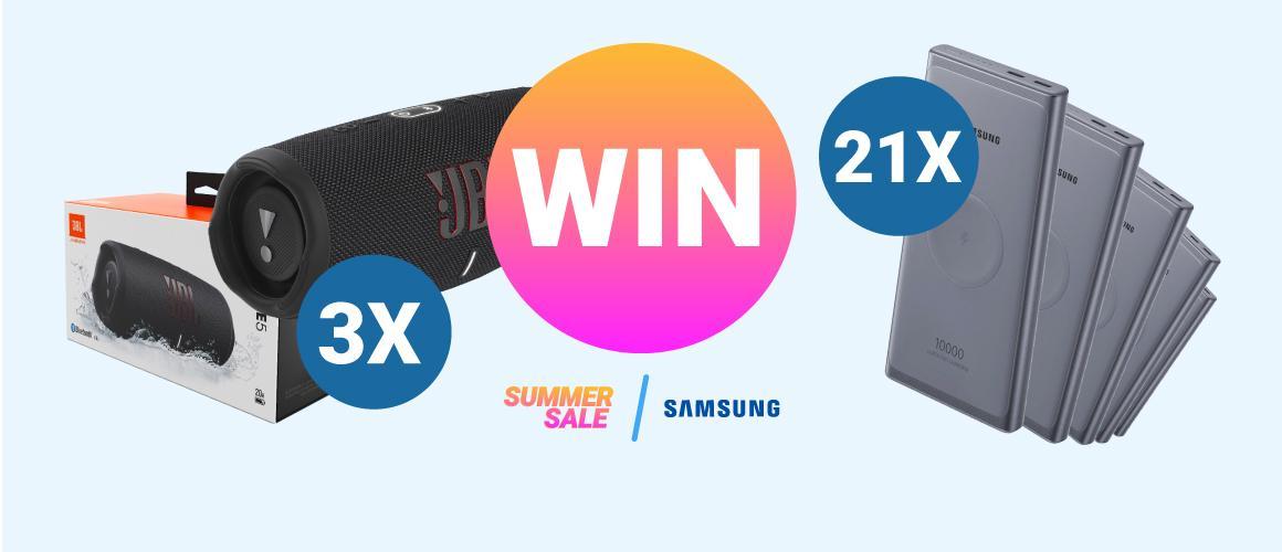 Win Samsung producten   Summer Sale weken bij GSMpunt