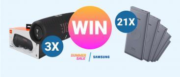 Win Samsung producten | Summer Sale weken bij GSMpunt