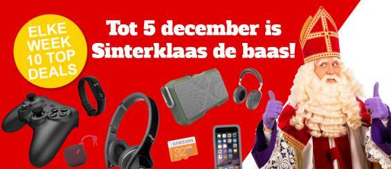 Tot 5 december is Sinterklaas de baas!