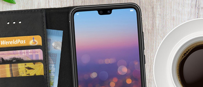 Rosso Deluxe Echt Lederen Book Case Hoesje Huawei P20