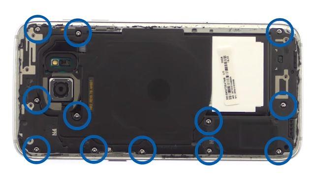 Schroeven Samsung Galaxy S7 Edge