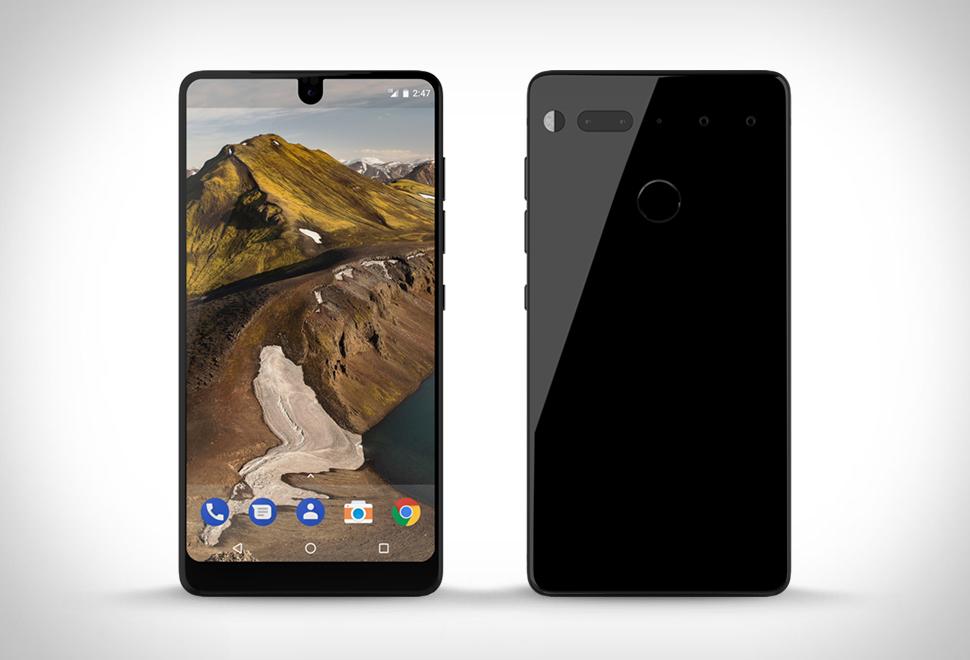 Essential Phone Zwart Voorkant achterkant