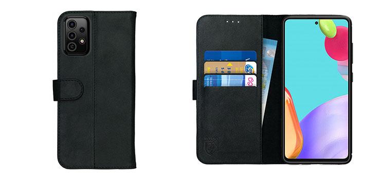 Beste Rosso Deluxe bookcover voor de Samsung Galaxy A52