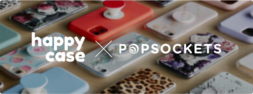 happycase x popsockets collaberation