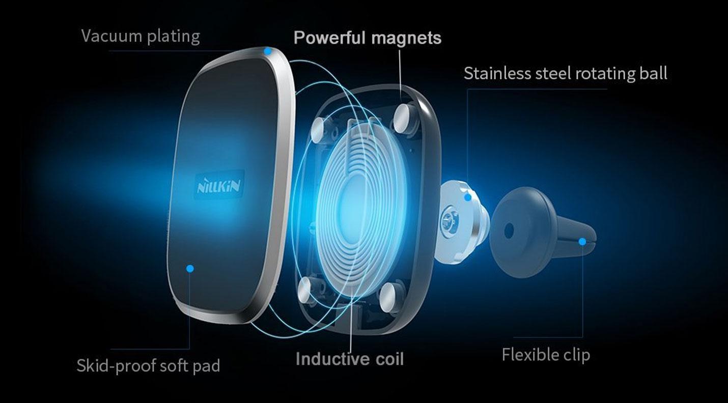 Nillkin Magnetische Auto Lader met Draadloos Opladen