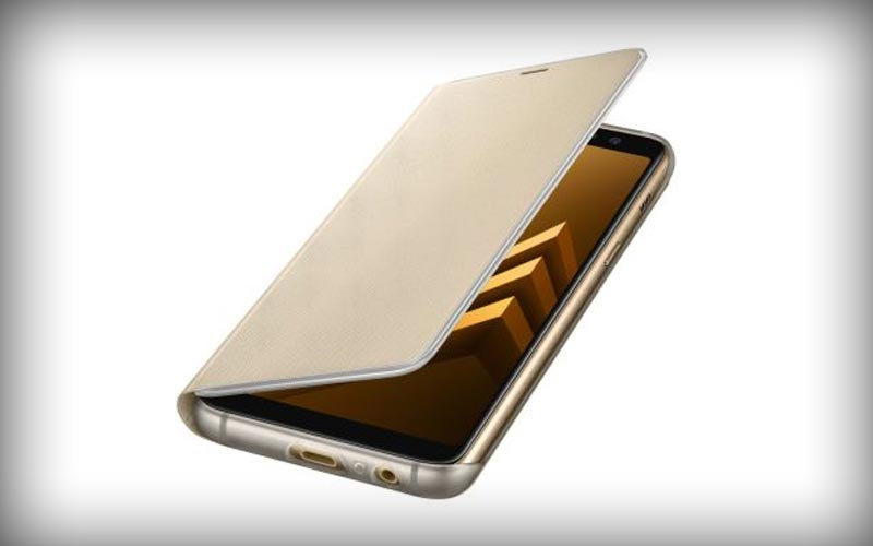 Samsung Galaxy A8 2018 Neon Flip Cover Goud