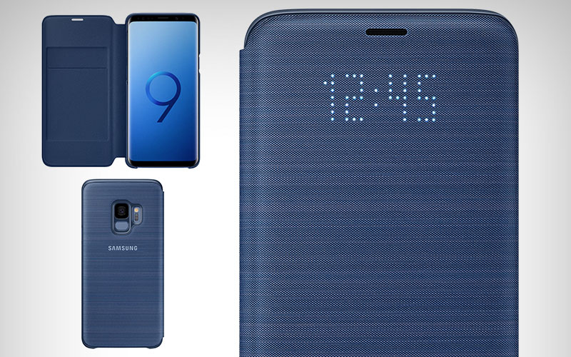 Originele Samsung Galaxy S9 LED View Cover Blauw hoesje