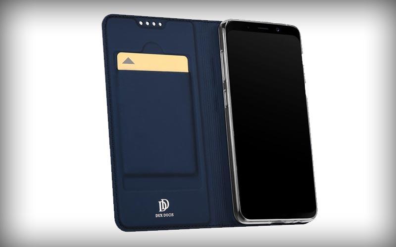 Dux Ducis Samsung Galaxy A8 2018 Premium Bookcase Hoesje Blauw