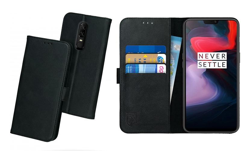 Rosso Deluxe OnePlus 6 Hoesje Echt Leer Book Case