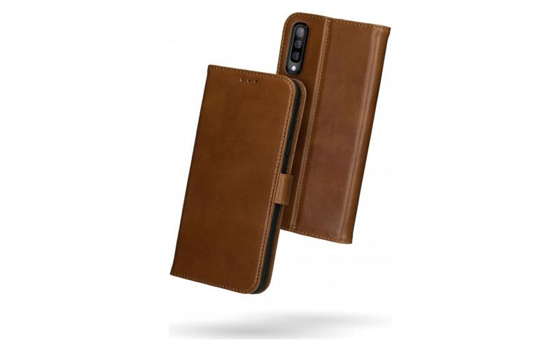 Rosso Deluxe Samsung Galaxy A50 Hoesje Echt Leer Book Case