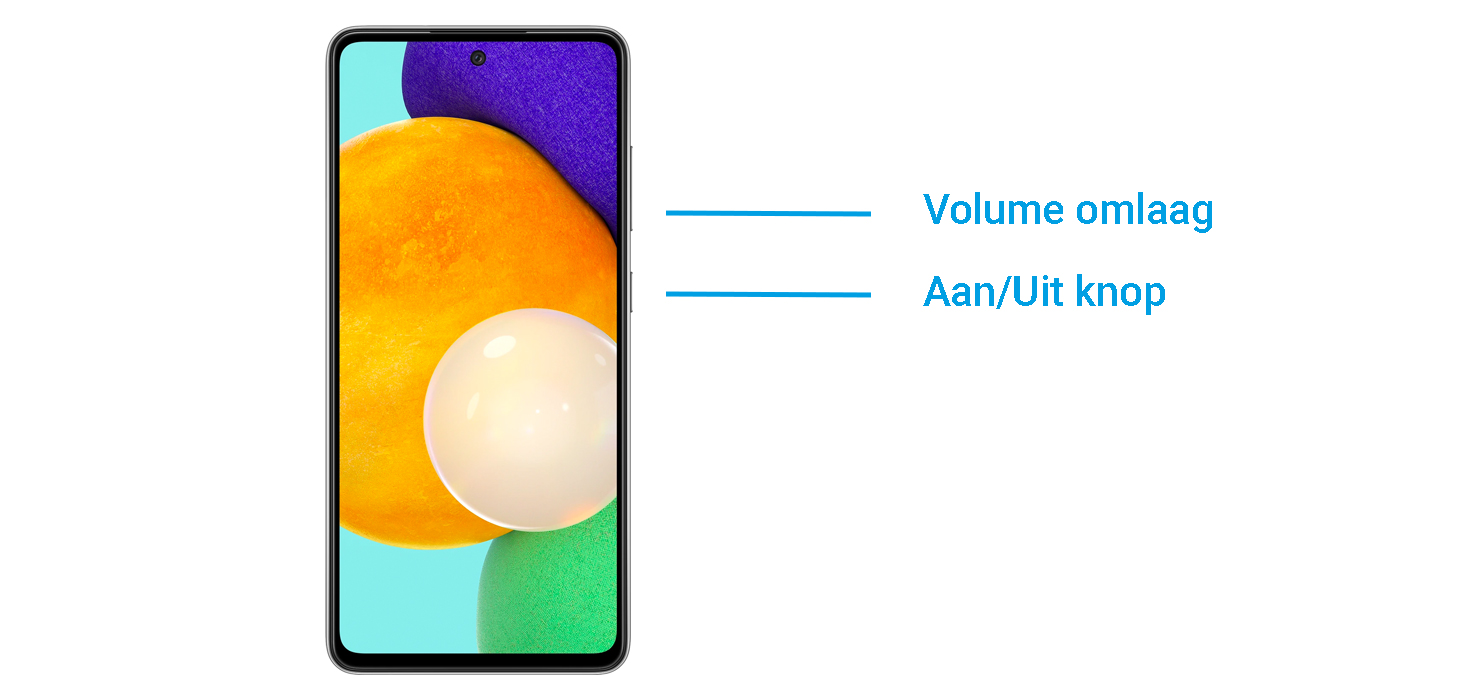 screenshot maken met de Samsung Galaxy A52