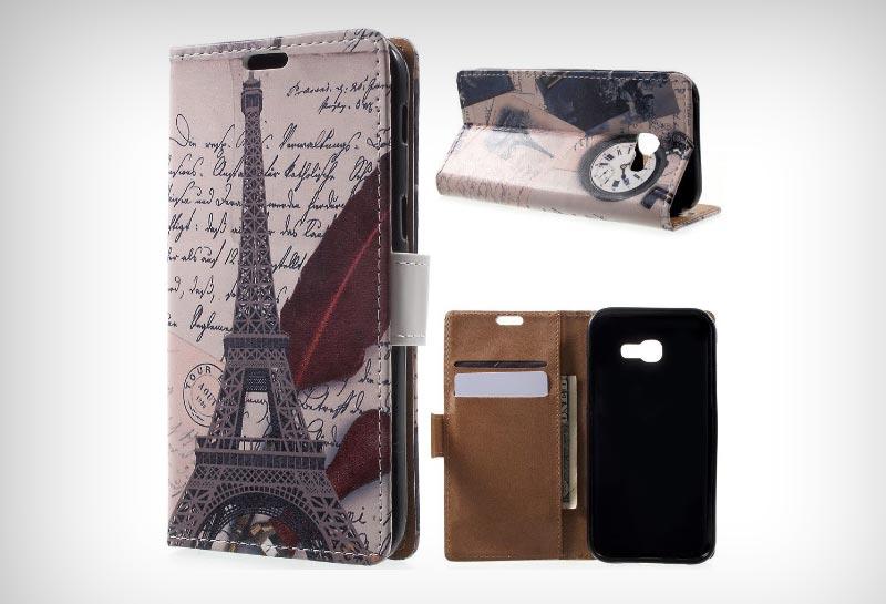 Samsung Galaxy A5 (2017) Portemonnee Print Hoesje Eiffeltoren