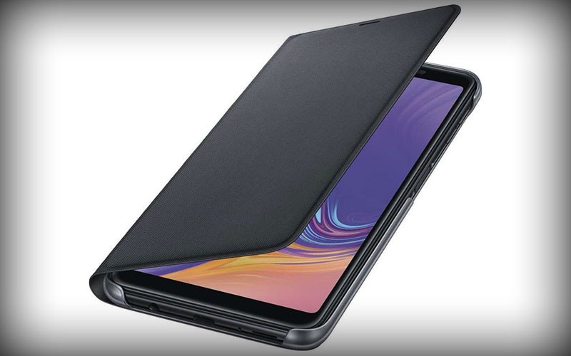 Samsung Galaxy A7 2018 Portemonnee Hoesje Zwart