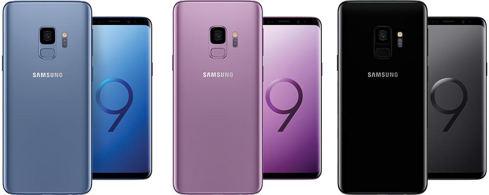 Samsung Galaxy S9 Kleuren