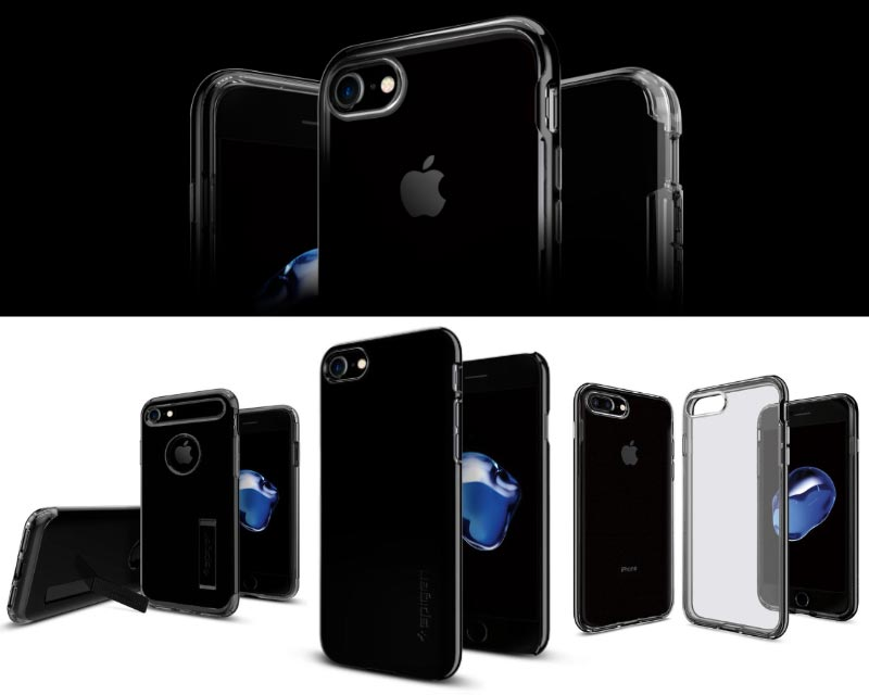 Spigen Jet Black iPhone 7 hoesjes