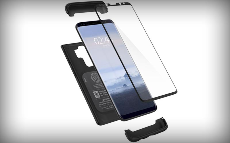 Spigen Thin Fit 360: Volledig dekken Galaxy S9 Plus hoesje met screenprotector