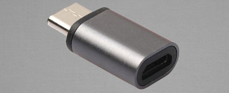 Verloopstekker van micro usb naar usb-c
