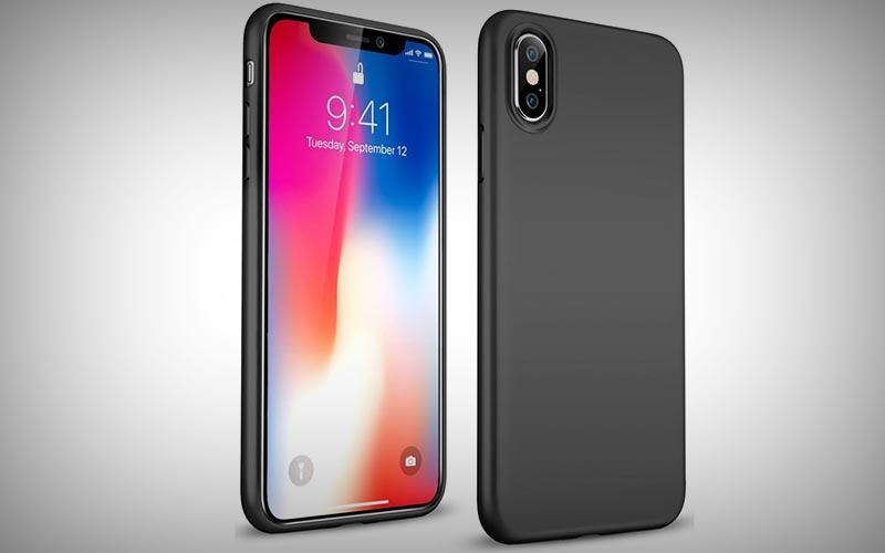 Zwart TPU hoesje iPhone X