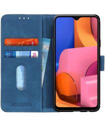 Samsung Galaxy A20s Hoesje Retro Wallet Book Case Blauw
