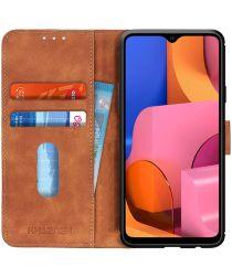 Samsung Galaxy A20s Hoesje Retro Wallet Book Case Bruin