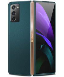 Samsung Galaxy Z Fold 2 Hoesje Back Cover Echt Leer Groen