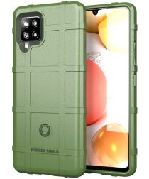 Samsung Galaxy A42 Hoesje Shock Proof Rugged Shield Groen