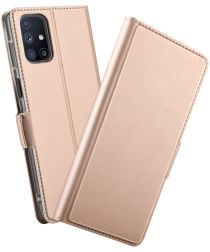 Samsung Galaxy M51 Portemonnee Stand Hoesje Goud