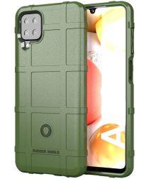 Samsung Galaxy A12 Hoesje Shock Proof Rugged Shield Groen