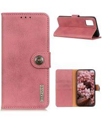 LG K42 Hoesje Retro Wallet Book Case Roze