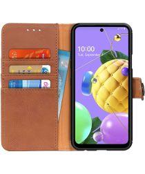 LG K52 Hoesje Retro Wallet Book Case Bruin