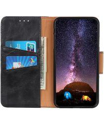 LG K52 / Q52 / K62 Hoesje Portemonnee Splitleer Book Case Zwart