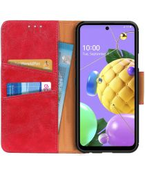 LG K52 / Q52 / K62 Hoesje Portemonnee Splitleer Book Case Rood