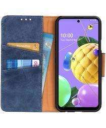 LG K52 / Q52 / K62 Hoesje Portemonnee Splitleer Book Case Blauw