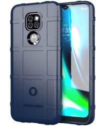 Motorola Moto G9 Play / E7 Plus Hoesje Shock Proof Rugged Shield Blauw