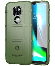 Motorola Moto G9 Play / E7 Plus Hoesje Shock Proof Rugged Shield Groen
