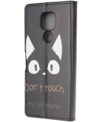 Motorola Moto G9 Play / Moto E7 Plus Hoesje met Don't Touch Print