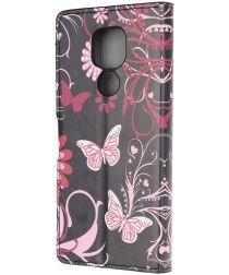 Motorola Moto G9 Play / Moto E7 Plus Hoesje met Rode Vlinder Print