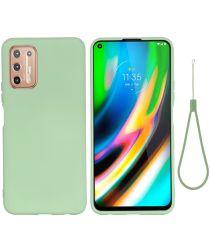 Motorola Moto G9 Plus Siliconen Back Cover Groen