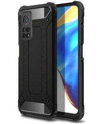 Xiaomi Mi 10T / Mi 10T Pro Hoesje Shock Proof Hybride Back Cover Zwart