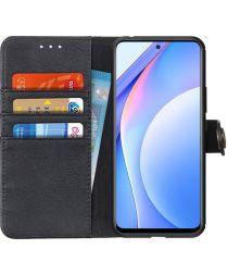 Xiaomi Mi 10T Lite Hoesje Retro Wallet Book Case Zwart