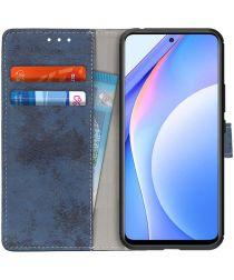 Xiaomi Mi 10T Lite Retro Wallet Book Case Hoesje Blauw