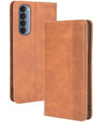 Oppo Reno 4 Pro Hoesje Retro Portemonnee Book Case Bruin