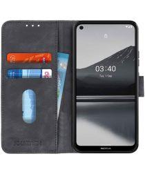 Nokia 3.4 Vintage Book Case Hoesje Wallet Zwart