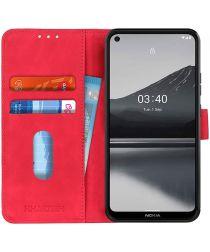 Nokia 3.4 Vintage Book Case Hoesje Wallet Rood