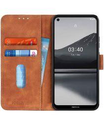 Nokia 3.4 Vintage Book Case Hoesje Wallet Bruin