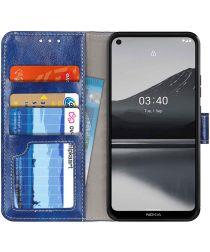 Nokia 3.4 Portemonnee Stand Hoesje Blauw