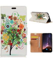 Nokia 3.4 Wallet Case Met Gekleurde Boom Print