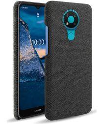 Nokia 3.4 Stof Textuur Back Cover Zwart