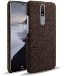 Nokia 2.4 Hoesje Stoffen Back Cover Coffee
